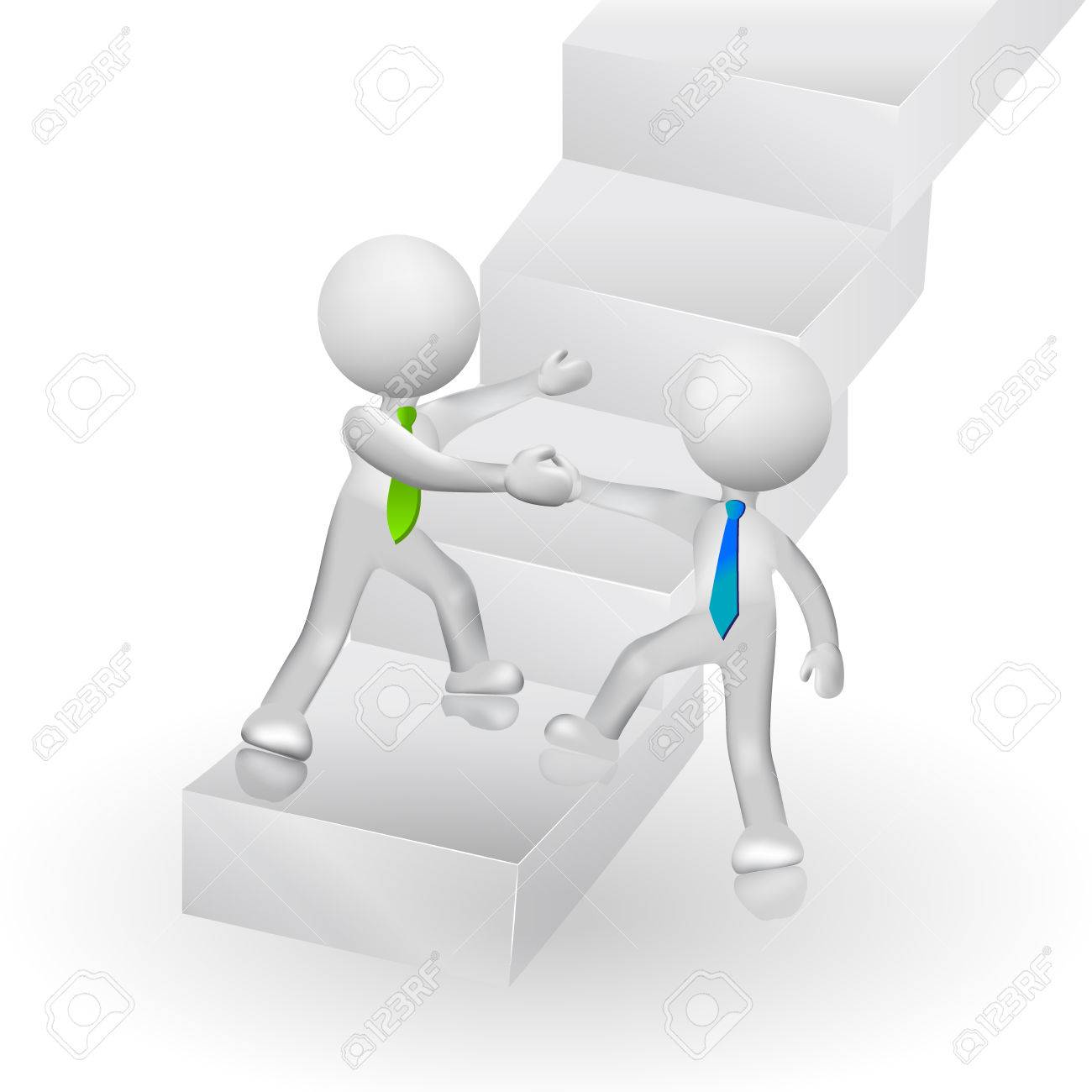 3D People Climbing Stairs To Success Symbolic Icon Logo Vector ... for Climbing Stairs To Success  111ane