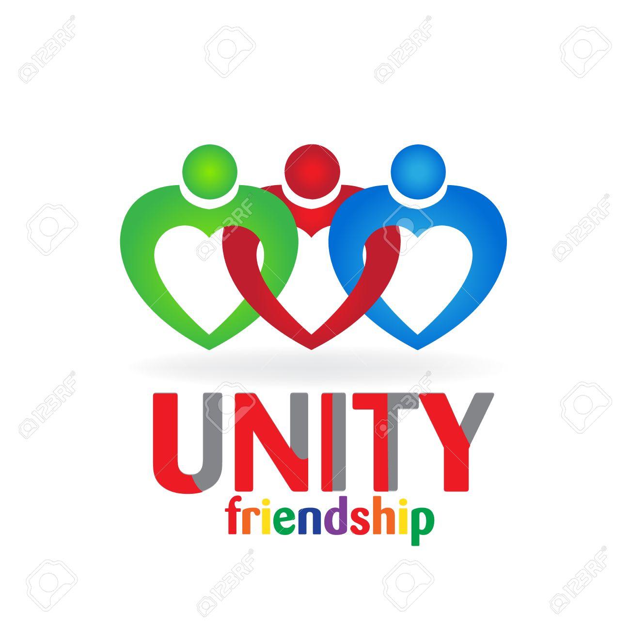 Coeur Amour Travail Dquipe Unit Amiti Carte De Visite Icne Logo