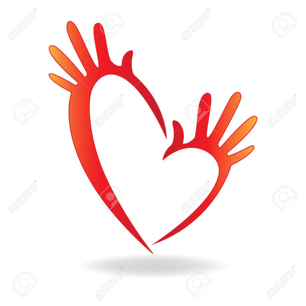 hands heart shape icon concept of helping and charity for sick rh 123rf com free vector hands shaking free vector hands download