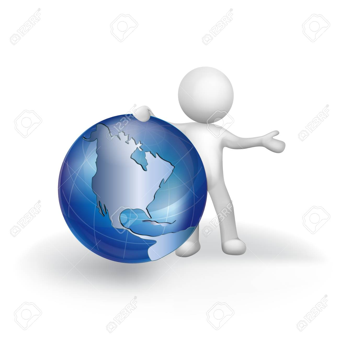 3d white people man with earth globe world map vector icon logo 3d white people man with earth globe world map vector icon logo stock vector 82870845 gumiabroncs Image collections