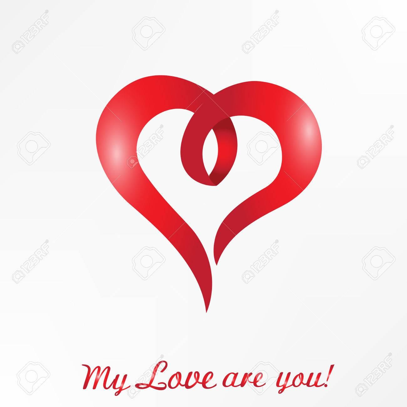 Coeur Amour Avec Texte De Mots Mon Amour Etes Vous Carte D Identite De Logo Clip Art Libres De Droits Vecteurs Et Illustration Image 86784987