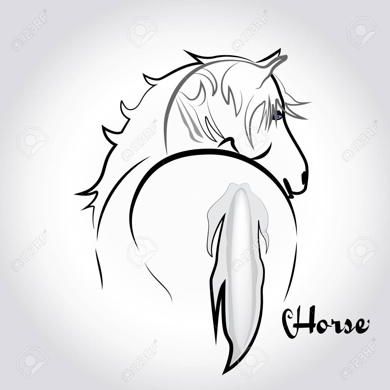Weißes Pferd Silhouette Logo Icon Vorlage Lizenzfrei Nutzbare ...
