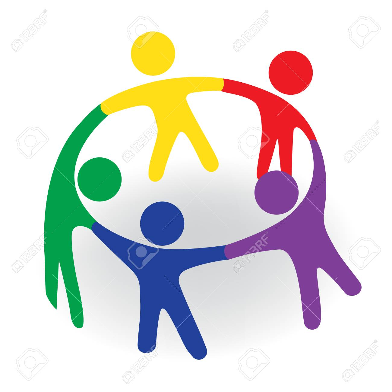 Group of team people in a meeting emblem vector image - 90821829