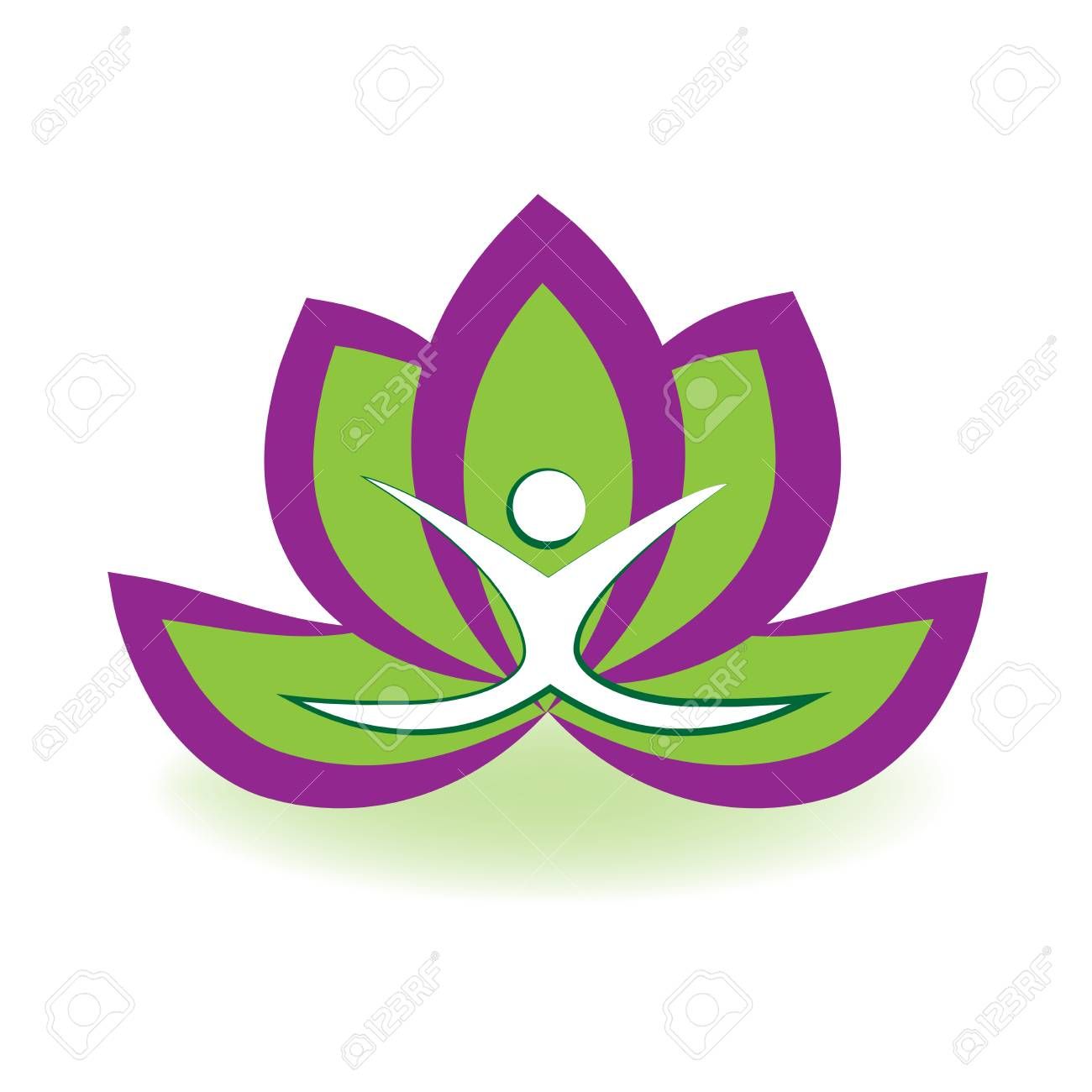 yoga man and lotus flower logo vector image royalty free cliparts rh 123rf com lotus flower logo design