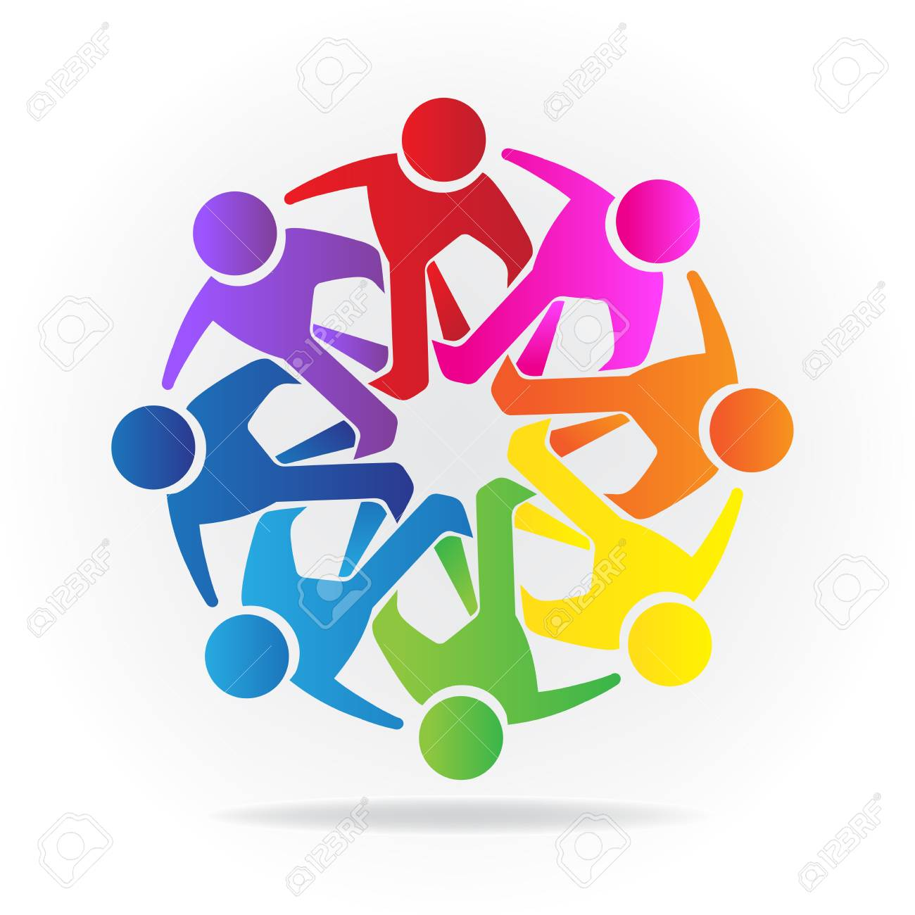 teamwork logo concept of friendship community union goals rh 123rf com free vector graphics program free vector graphic download