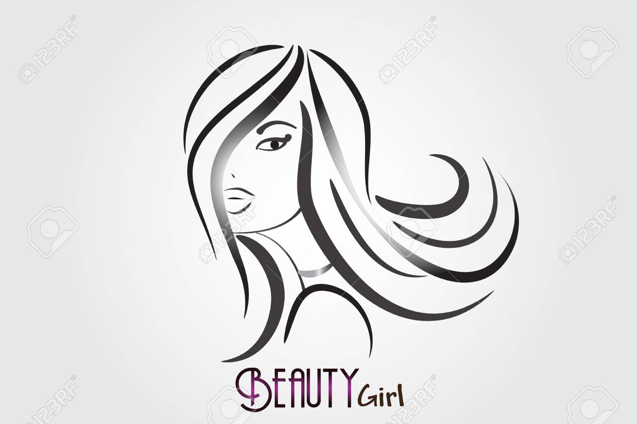 Beauty Salon Pretty Woman Hair Face Vector Design Royalty Free Cliparts Vectors And Stock Illustration Image 102243197