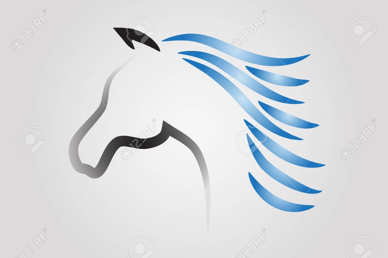 Race horse vector logo template horse stock vector (royalty free.