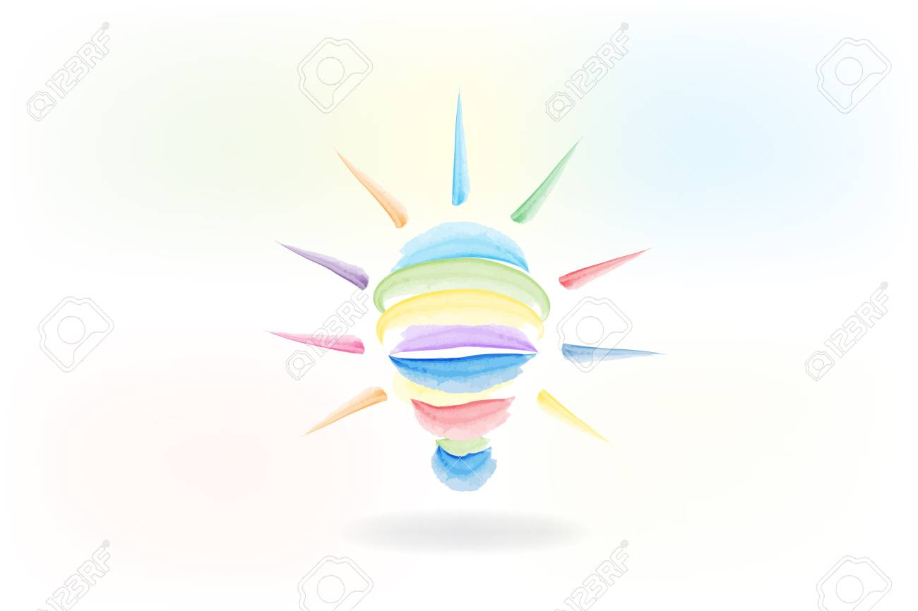 Bulb light logo. Creative idea symbol. Light bulb success concept vector illustration. - 108066216