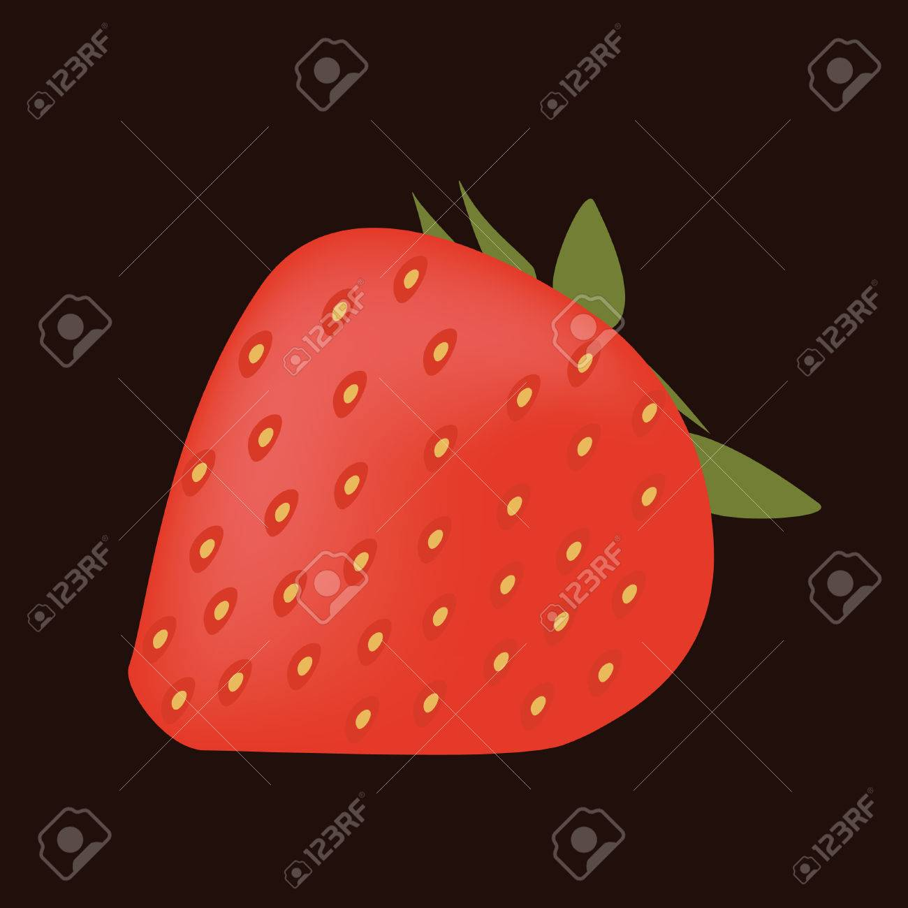 red strawberry, brown background Stock Vector - 8487936