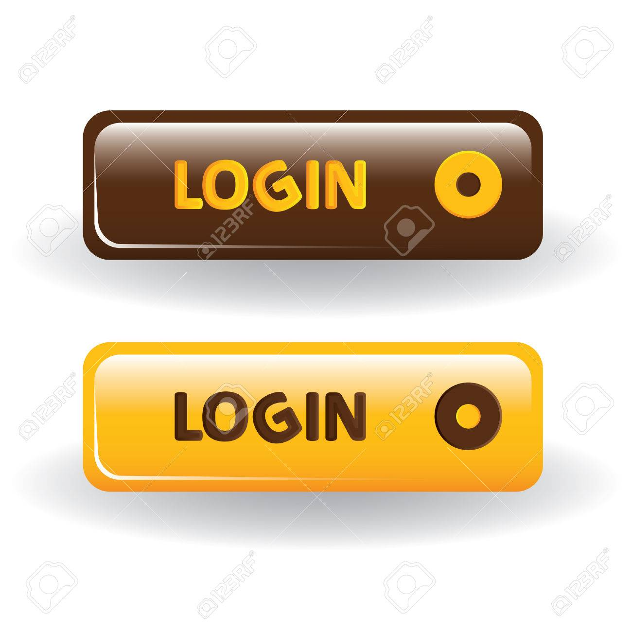Login Buttons Icons Login Buttons Brown And