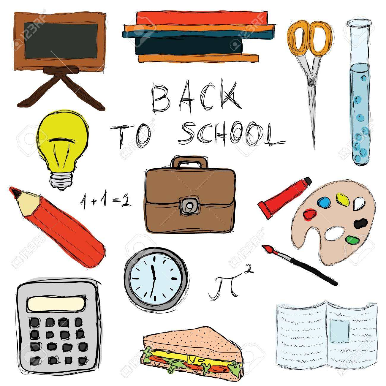back to school doodle set Stock Vector - 10470931