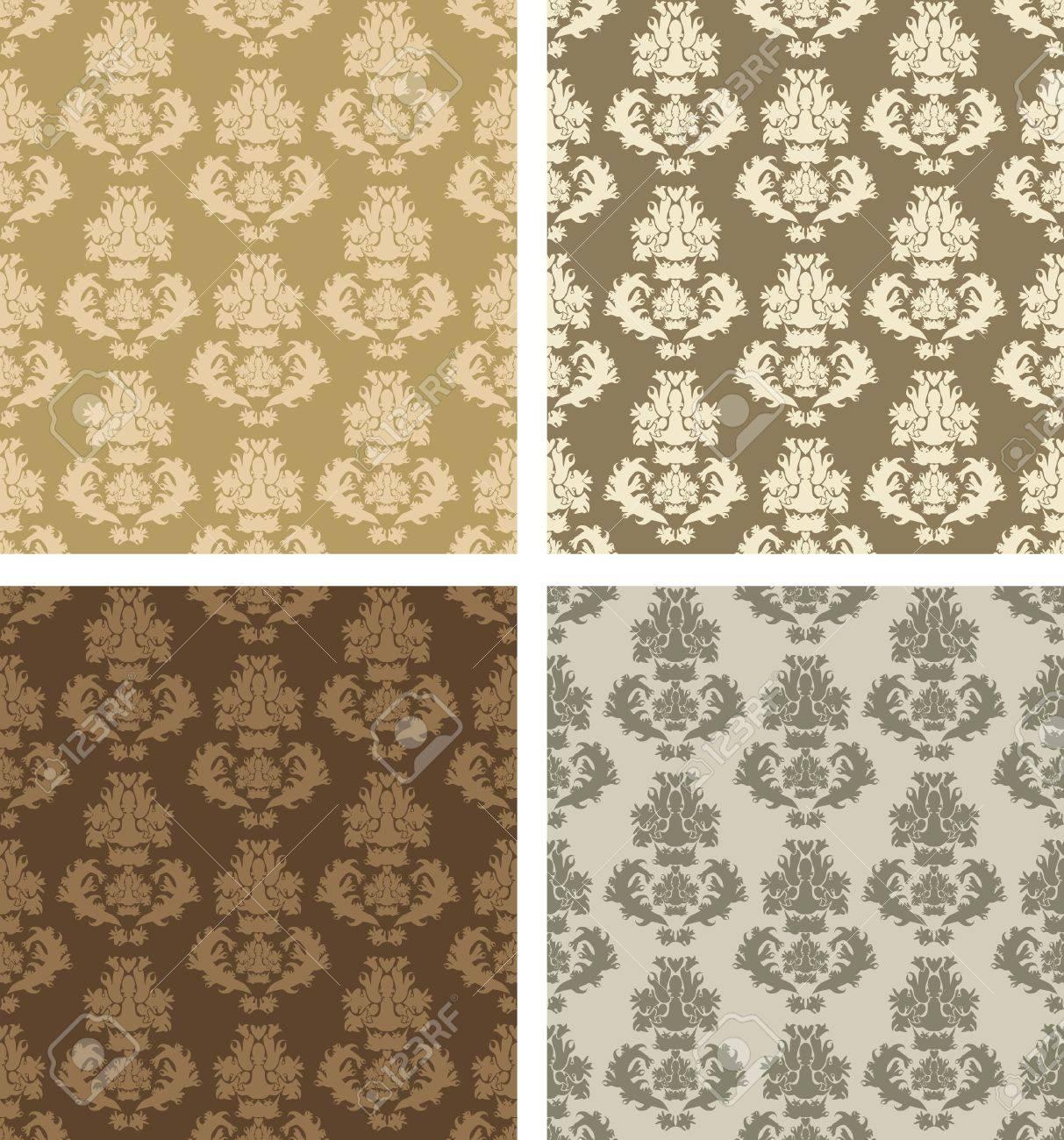 damask patterns Stock Vector - 10549049