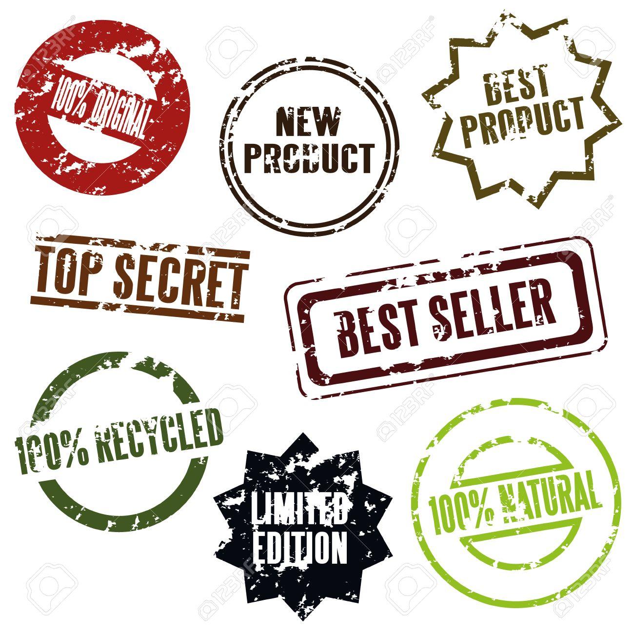 100% original, new product, top secret etc. Stock Vector - 10754304
