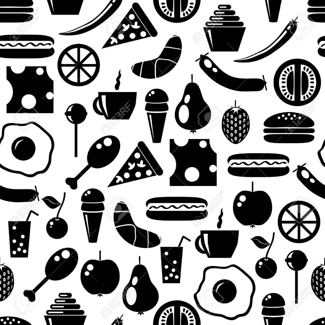 food seamless pattern Stock Vector - 10815781