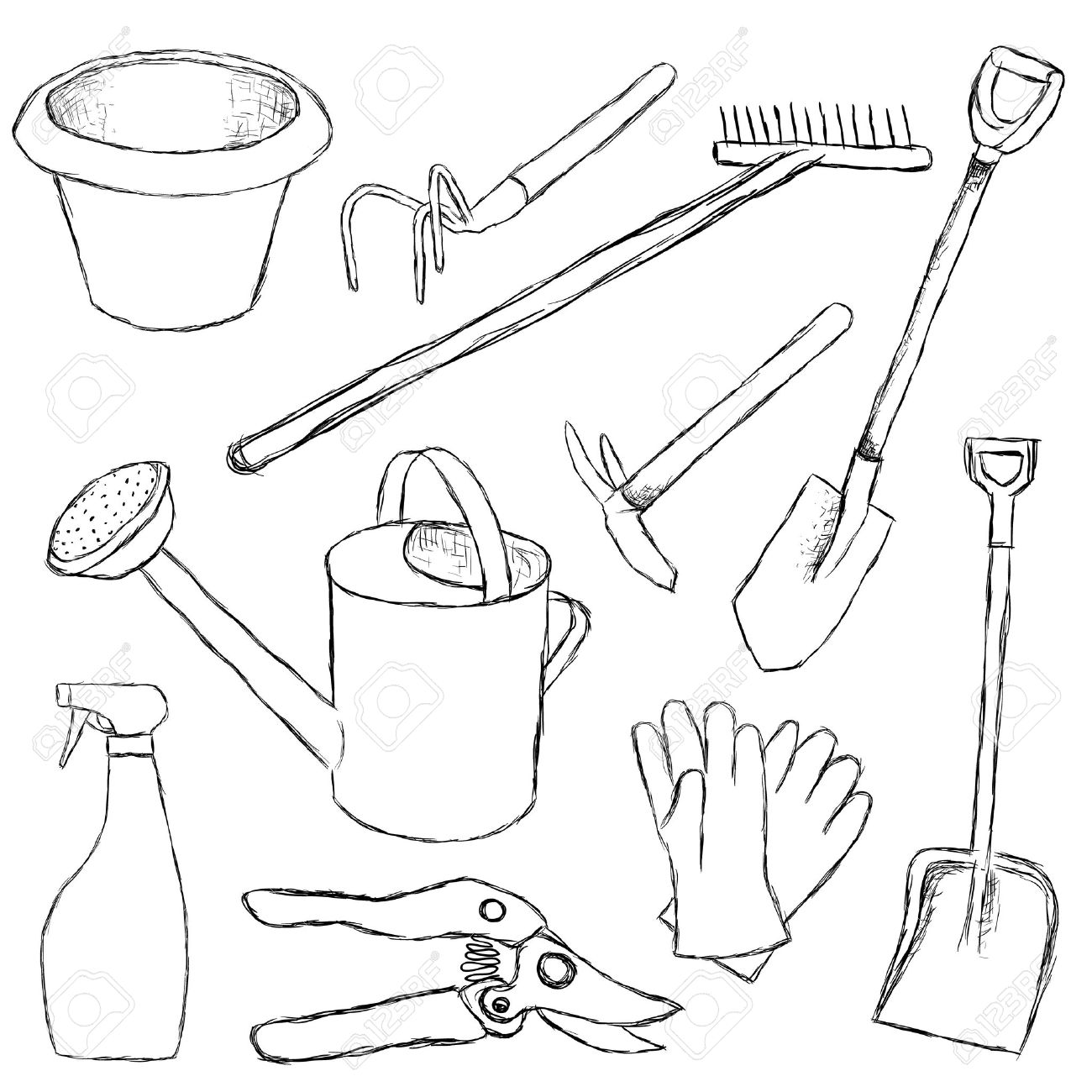 Garden Tools Royalty Free Cliparts, Vectors, And Stock Illustration ...
