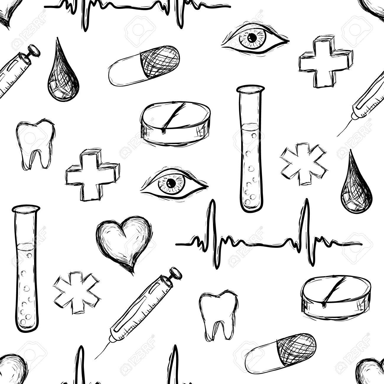 medical seamless pattern Stock Vector - 11538546