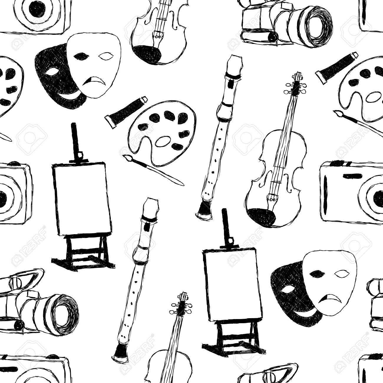 doodle art seamless pattern Stock Vector - 11814492