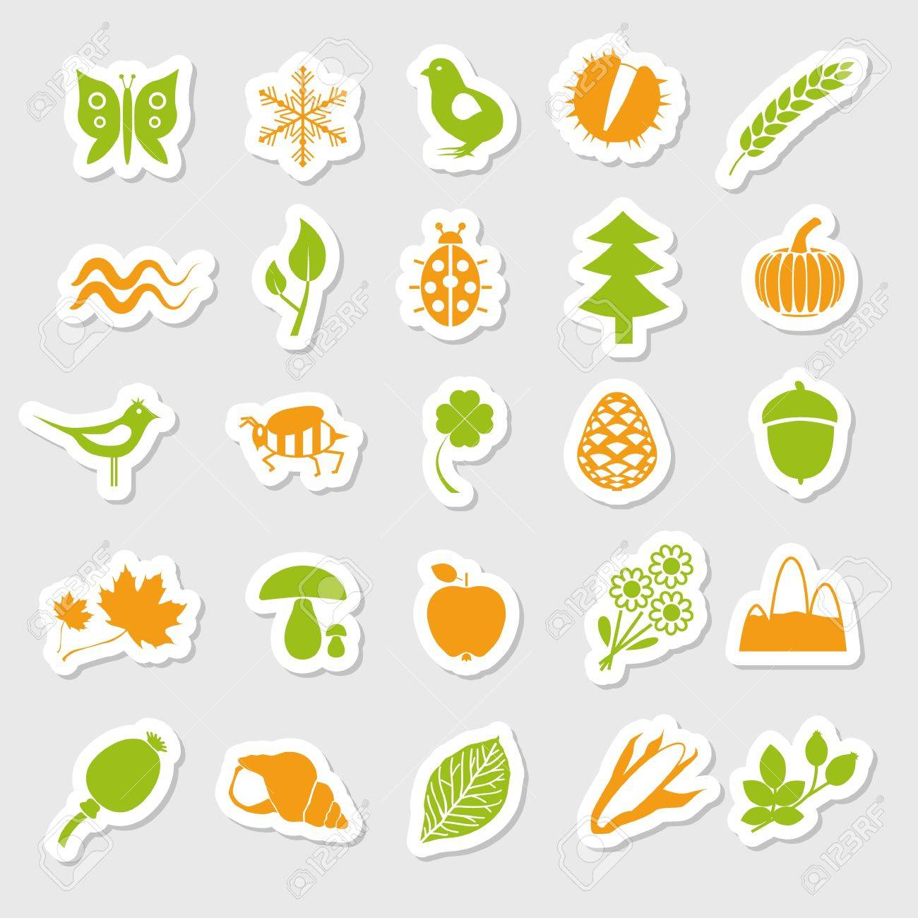 nature stickers Stock Vector - 14492005