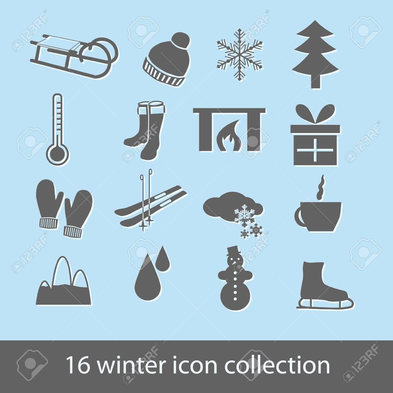 winter icons Stock Vector - 14840397