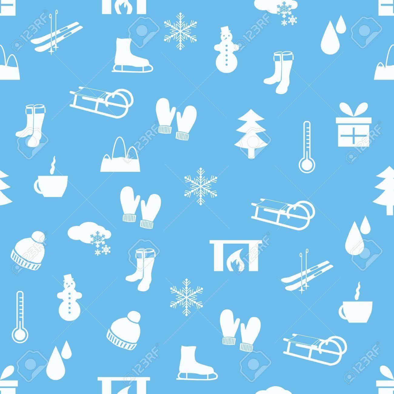winter seamless pattern Stock Vector - 15073149
