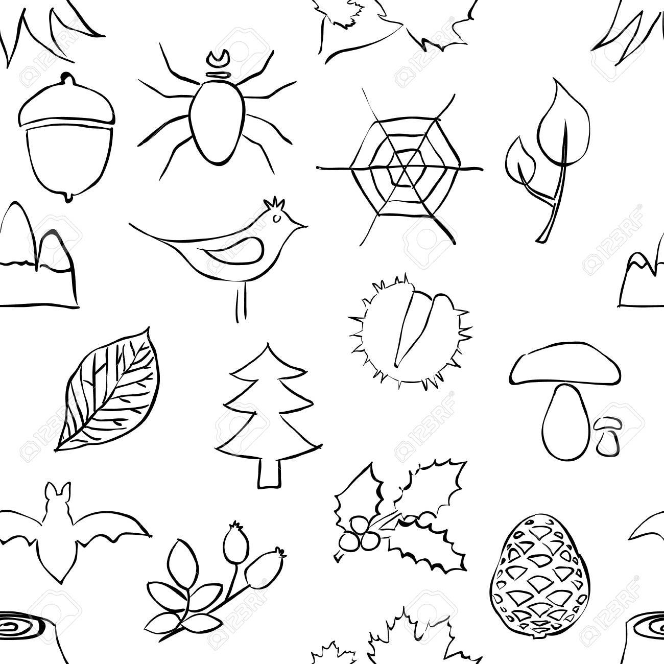 doodle forest seamless pattern Stock Vector - 16899269