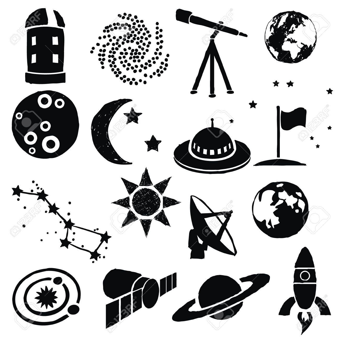 doodle space images Stock Vector - 16899273