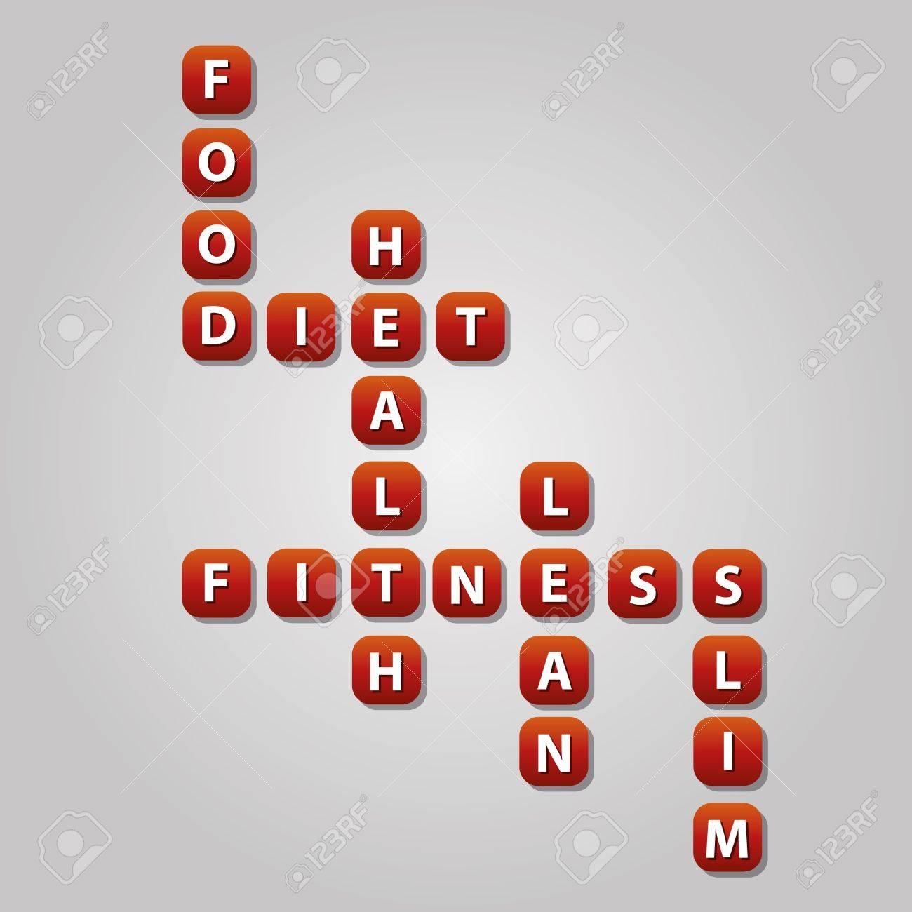 diet crossword Stock Vector - 17211674
