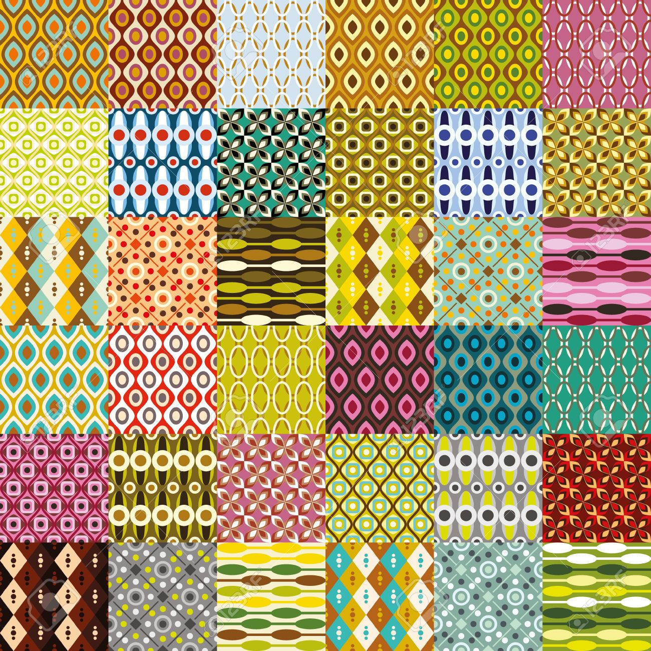 big retro pattern collection - 18001236
