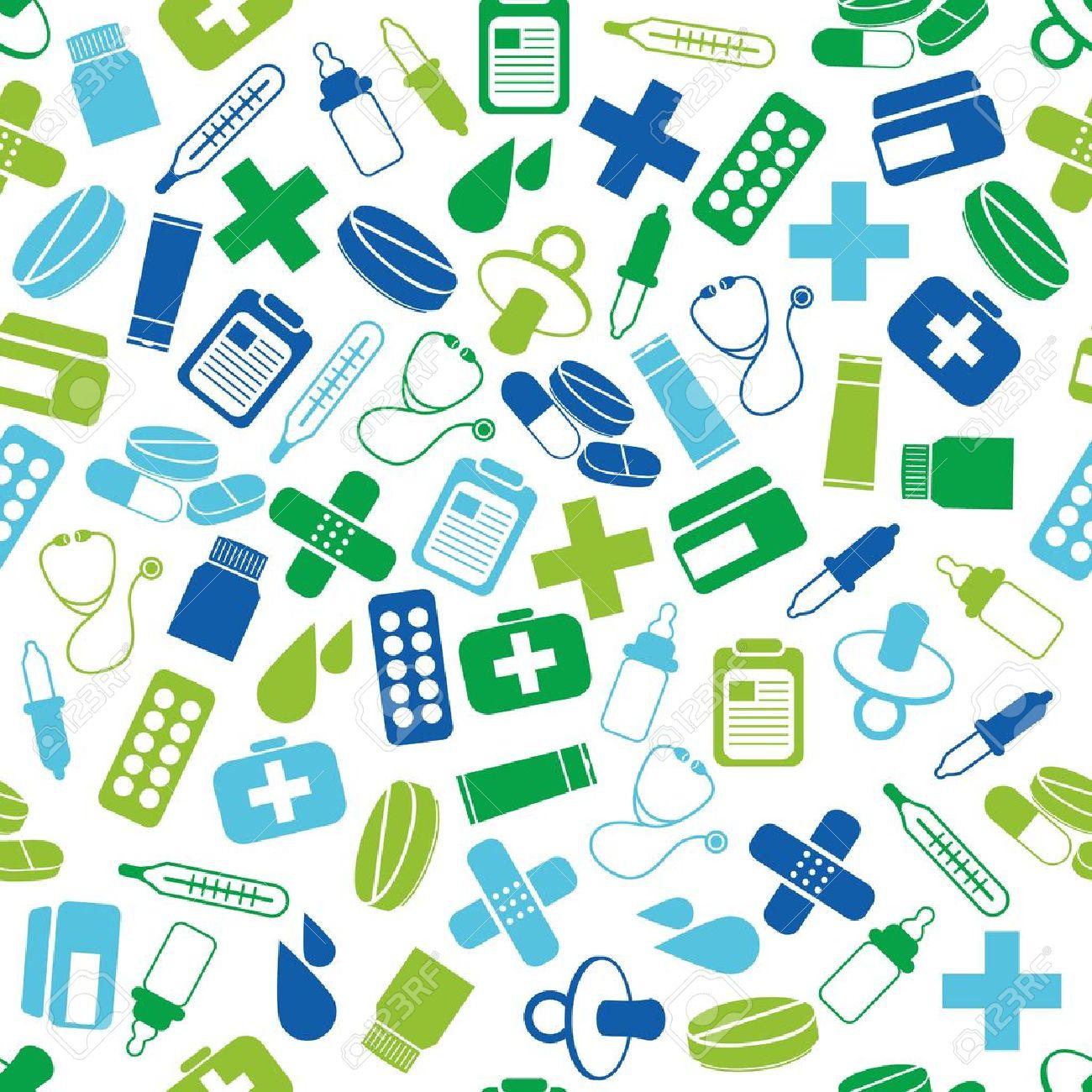 pharmacy seamless pattern - 18618676
