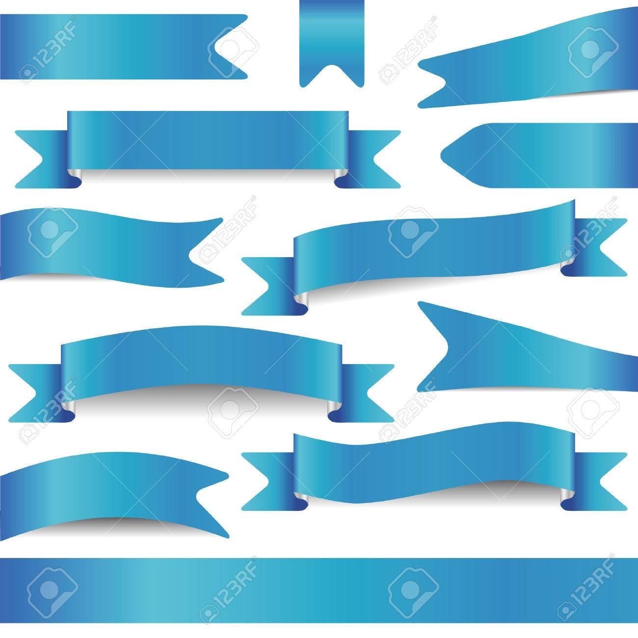 set of blue ribbons - 23039409
