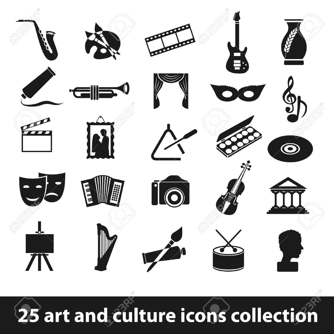 25 art and culture icon collection - 26708146