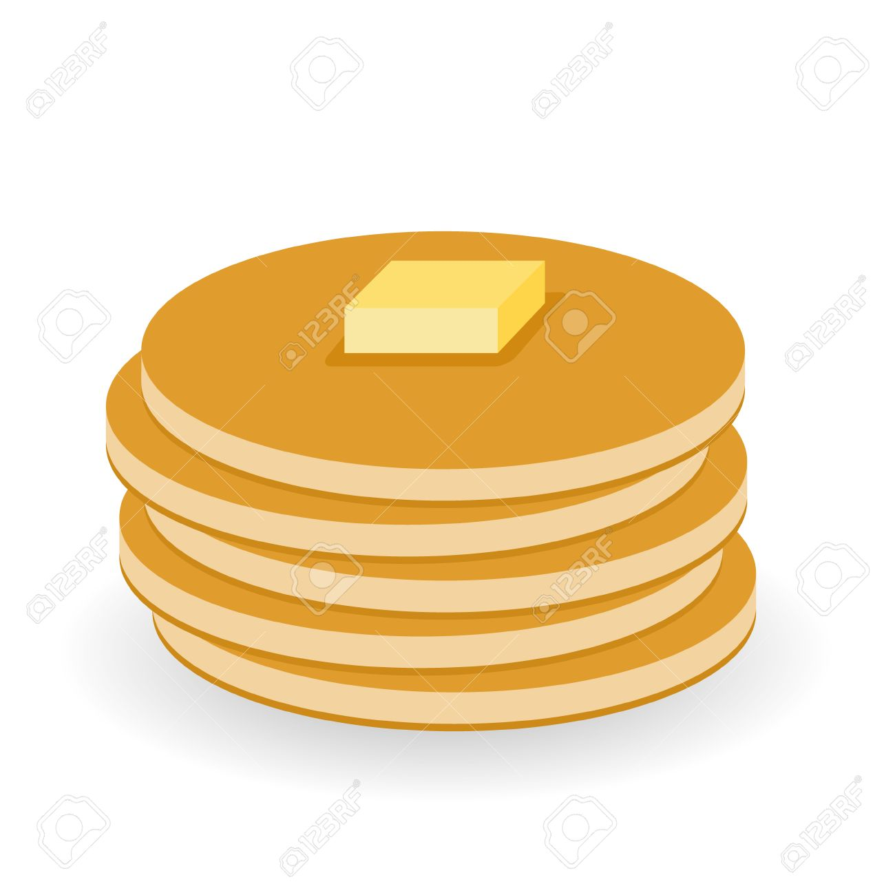 pancakes with butter - 27347502