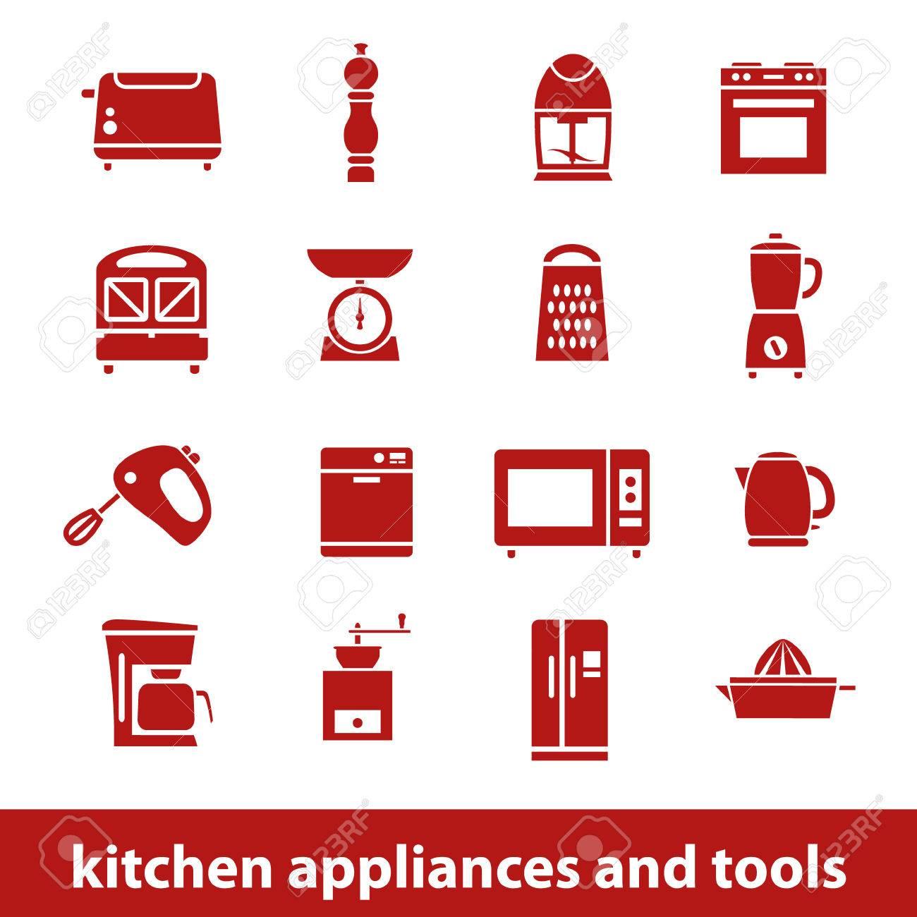 Küchengeräte Und Werkzeuge Icons Lizenzfrei Nutzbare Vektorgrafiken ...