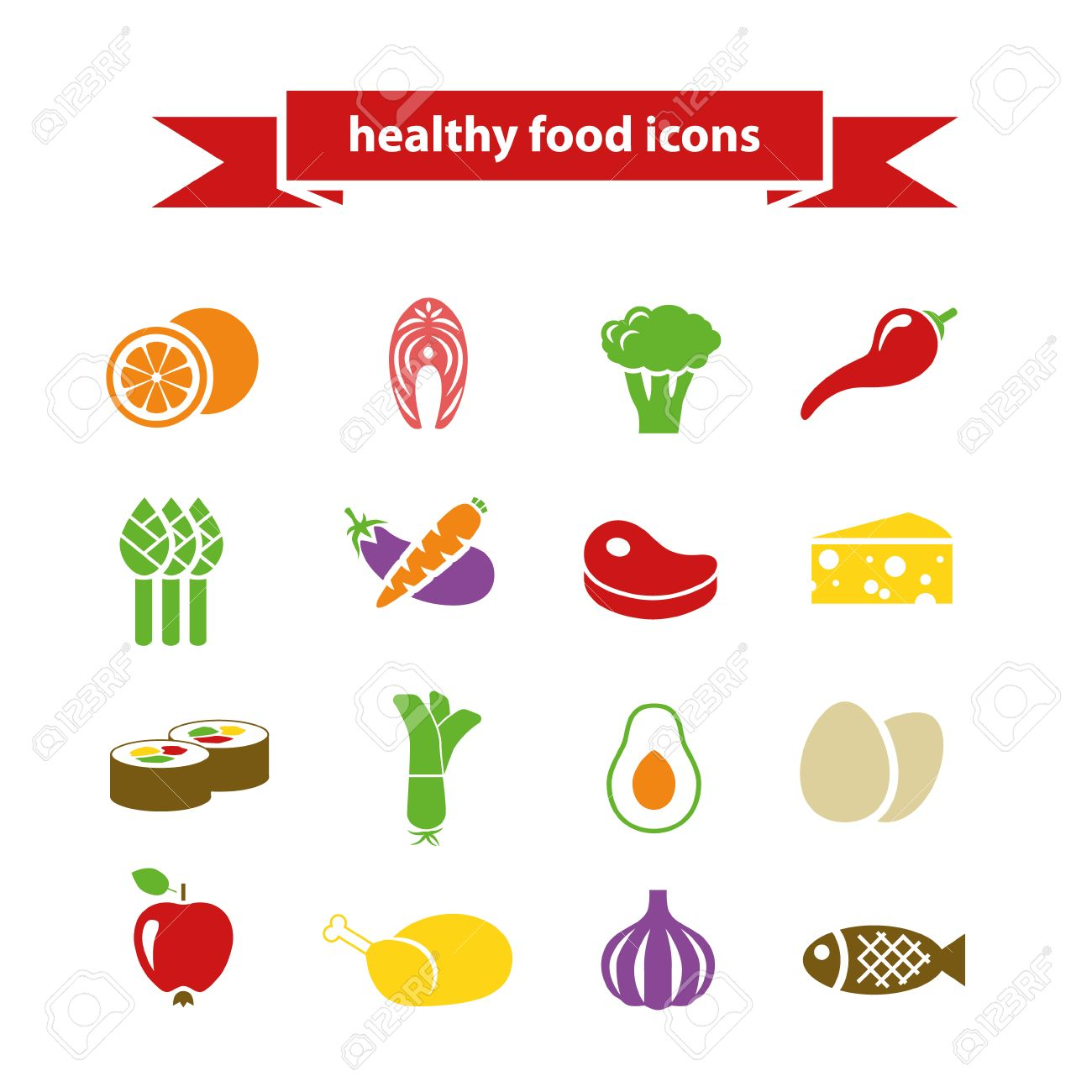 healthy food icons - 31780519