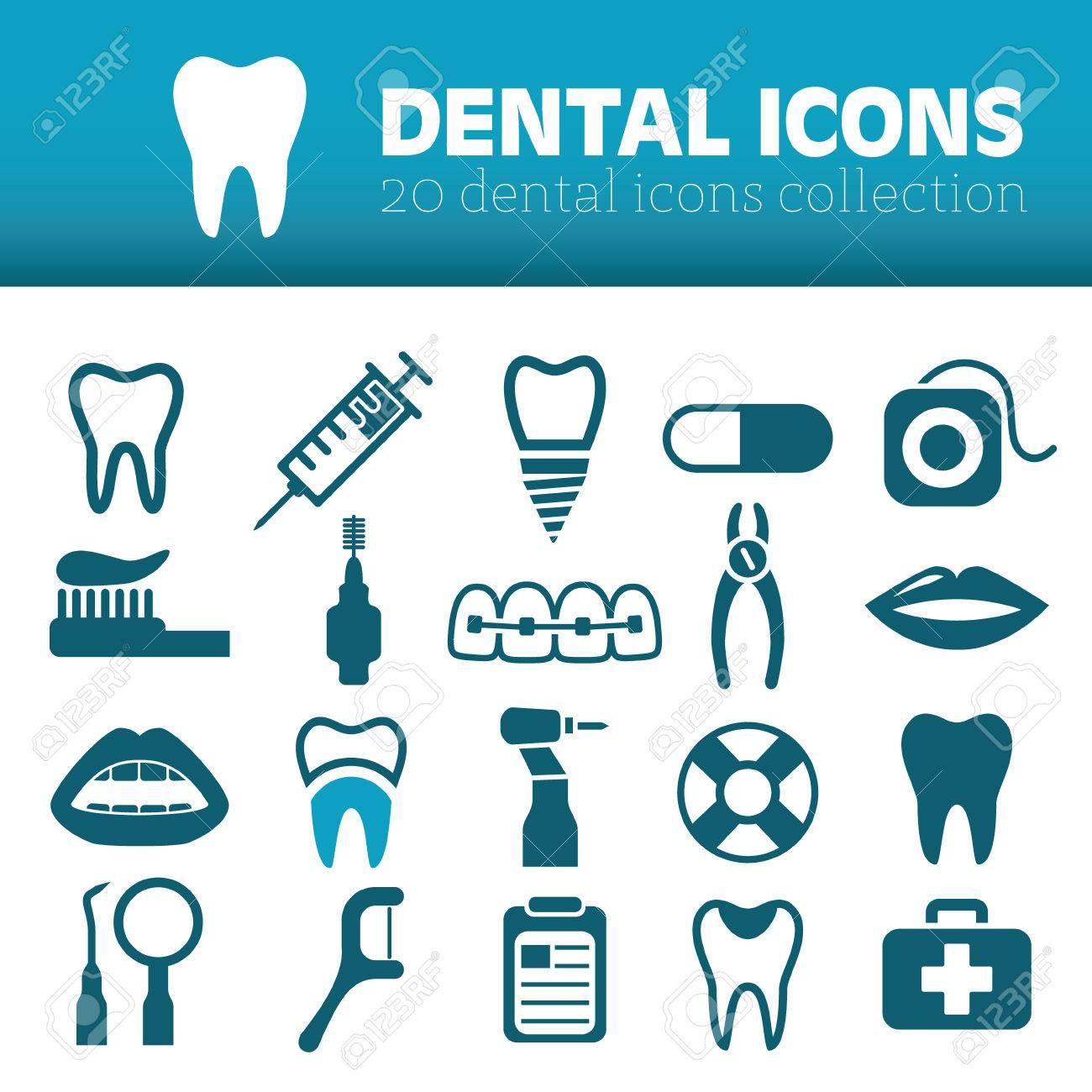 dental icons - 38277713