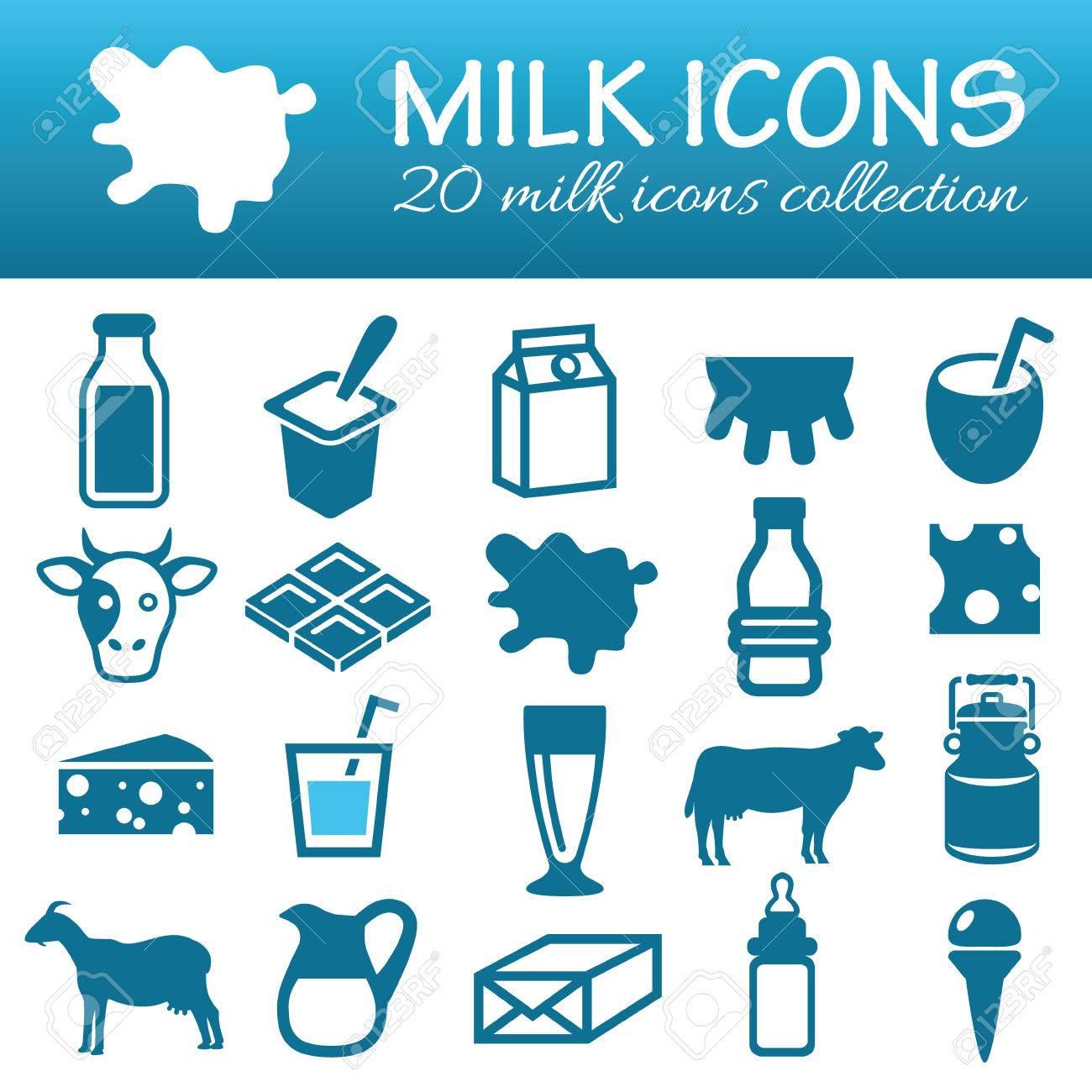 milk icons - 38277716