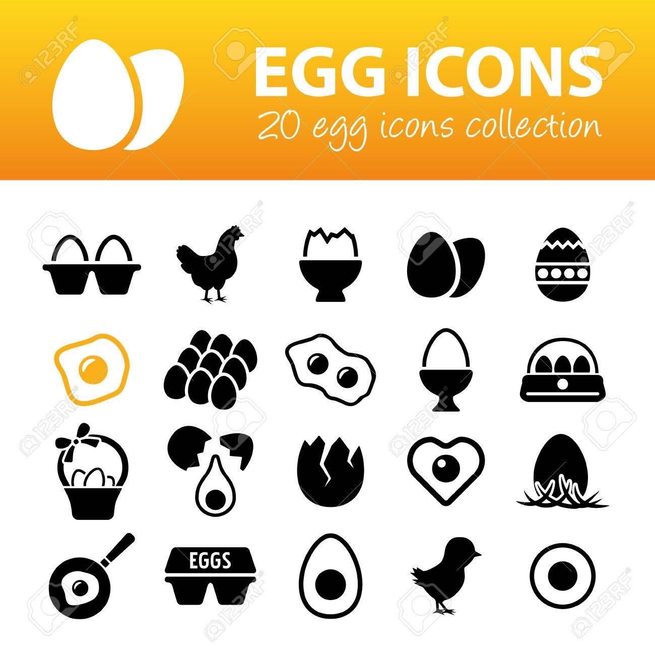 egg icons - 38957837