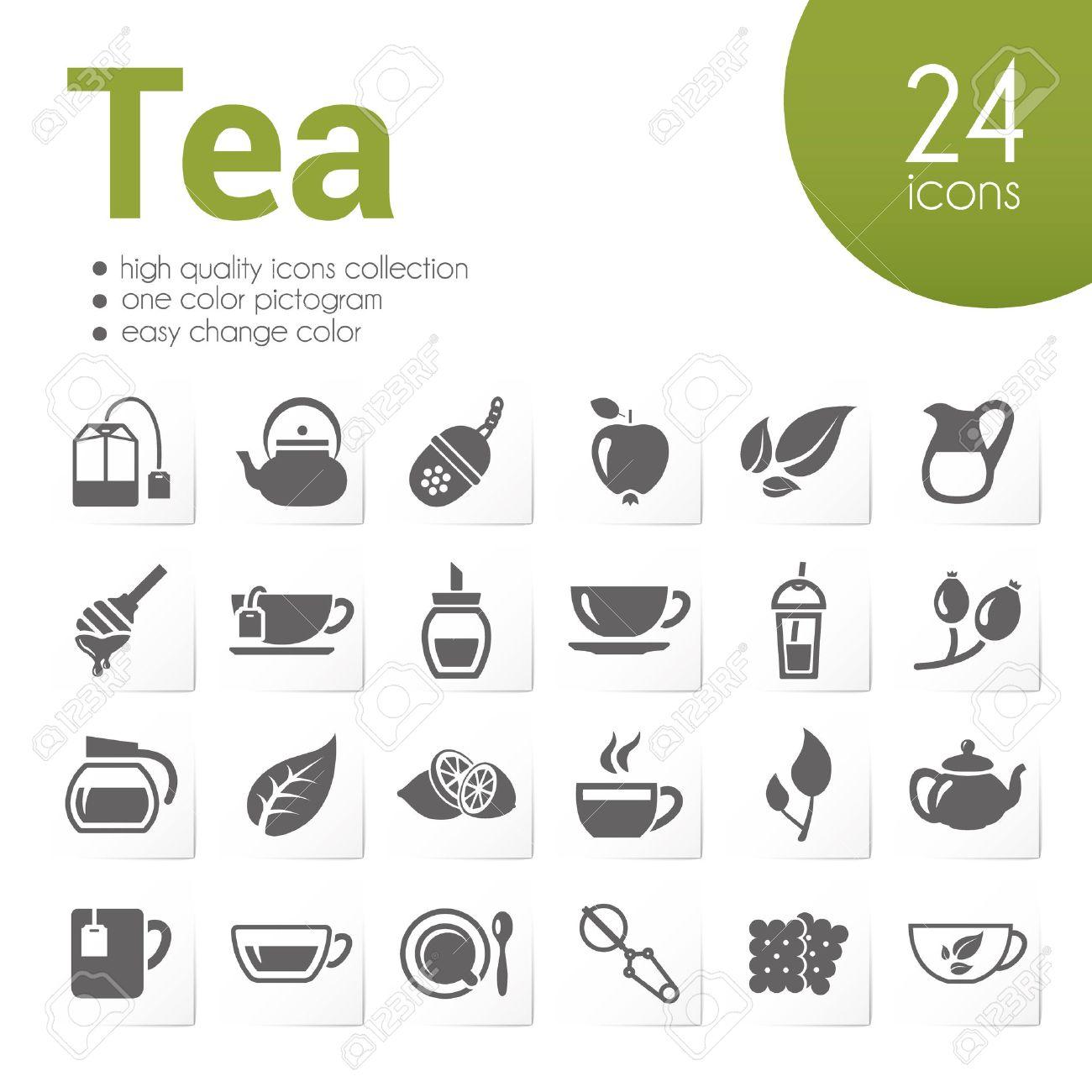 tea icons - 40129406