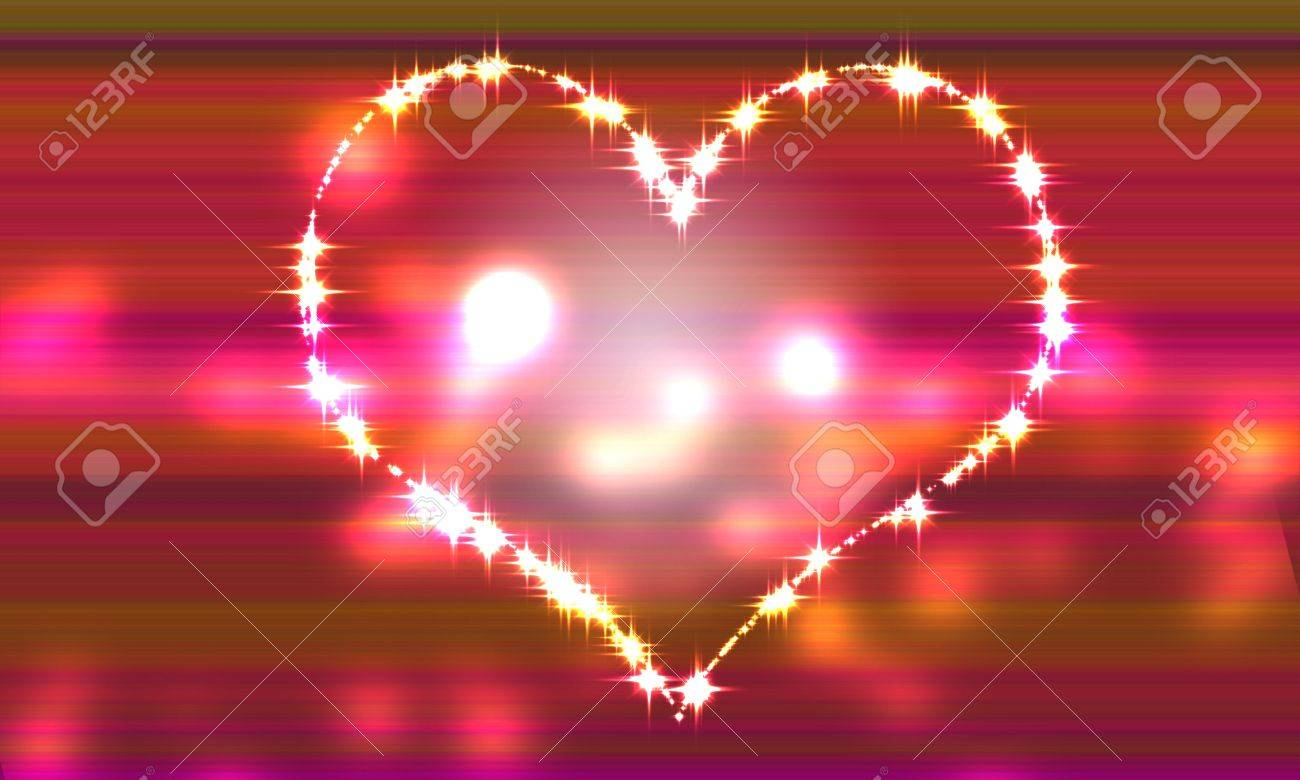 Background image overflow - Heart Pink Gradation Background Of Light That Begins To Overflow Stock Photo 6224677