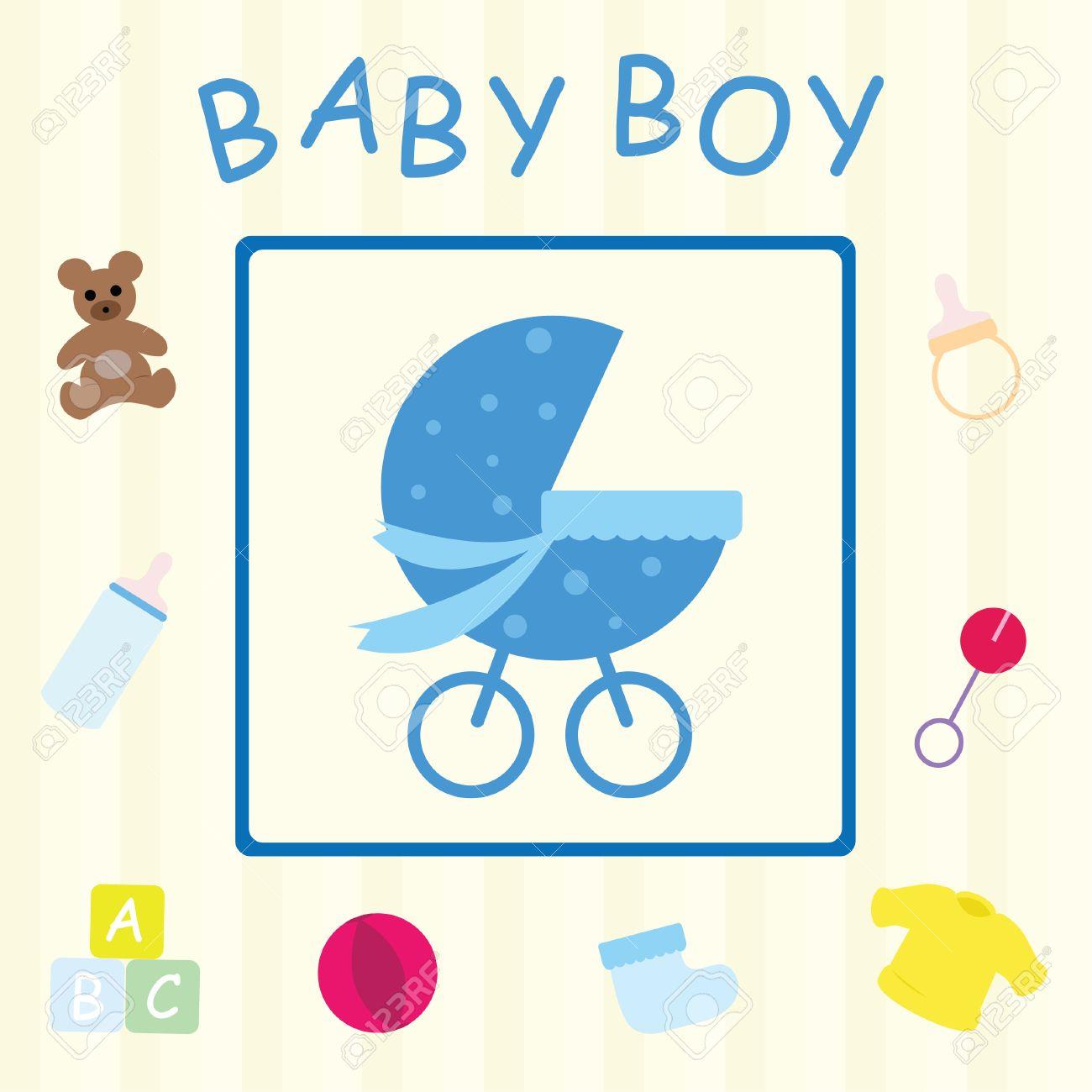 Baby Boy Card Stock Vector - 6847983