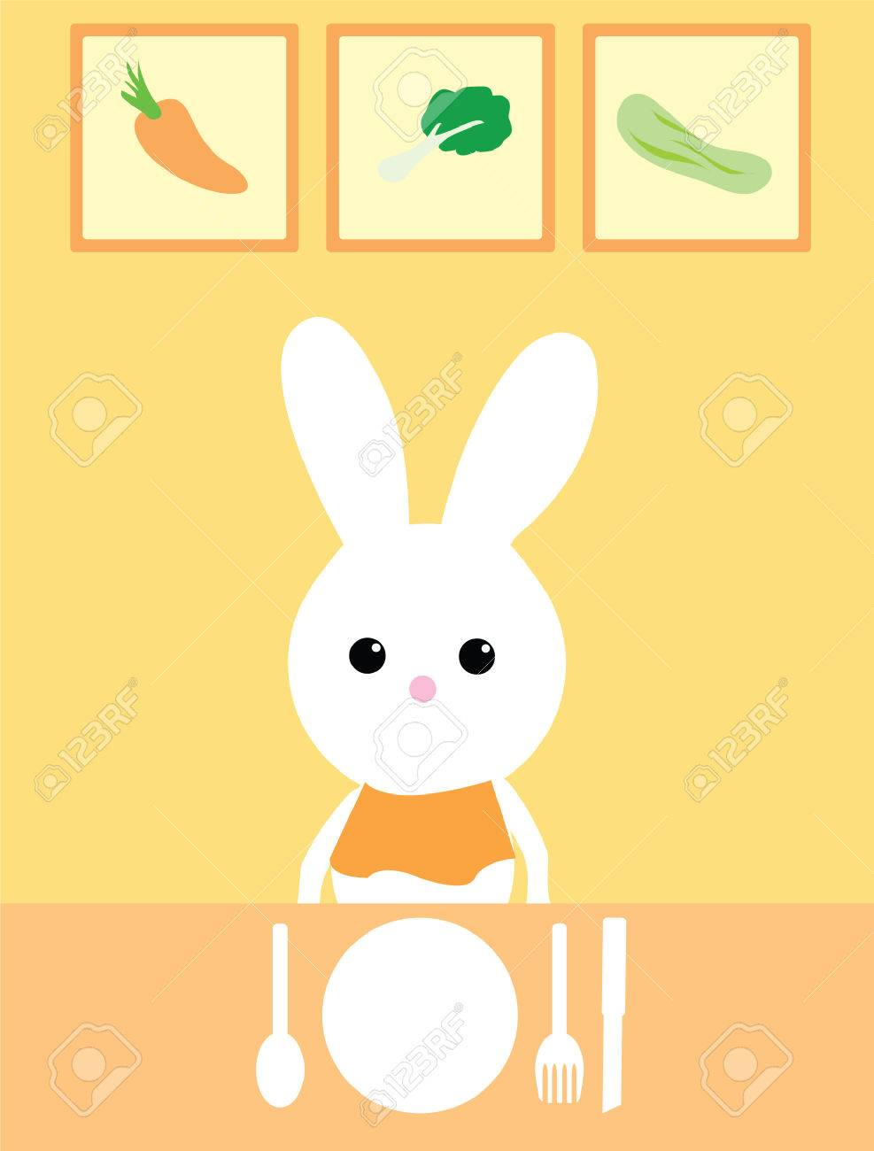 dining bunny Stock Vector - 6970950