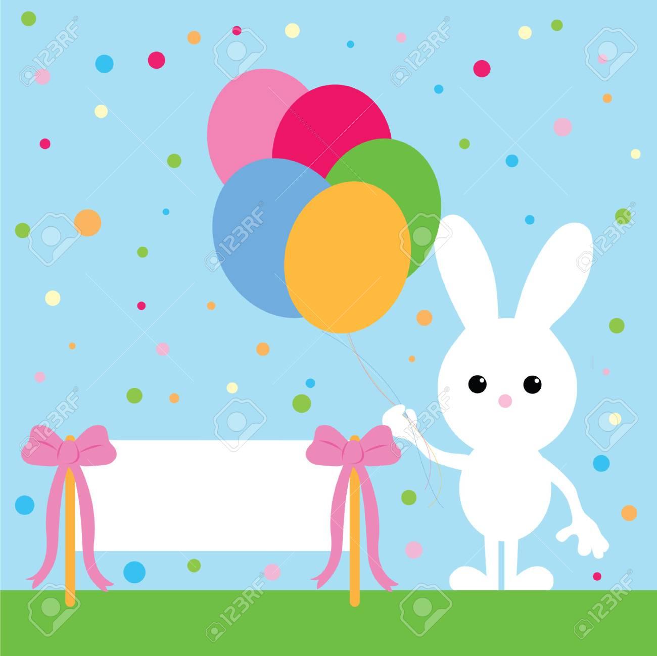 party bunny Stock Vector - 6970952