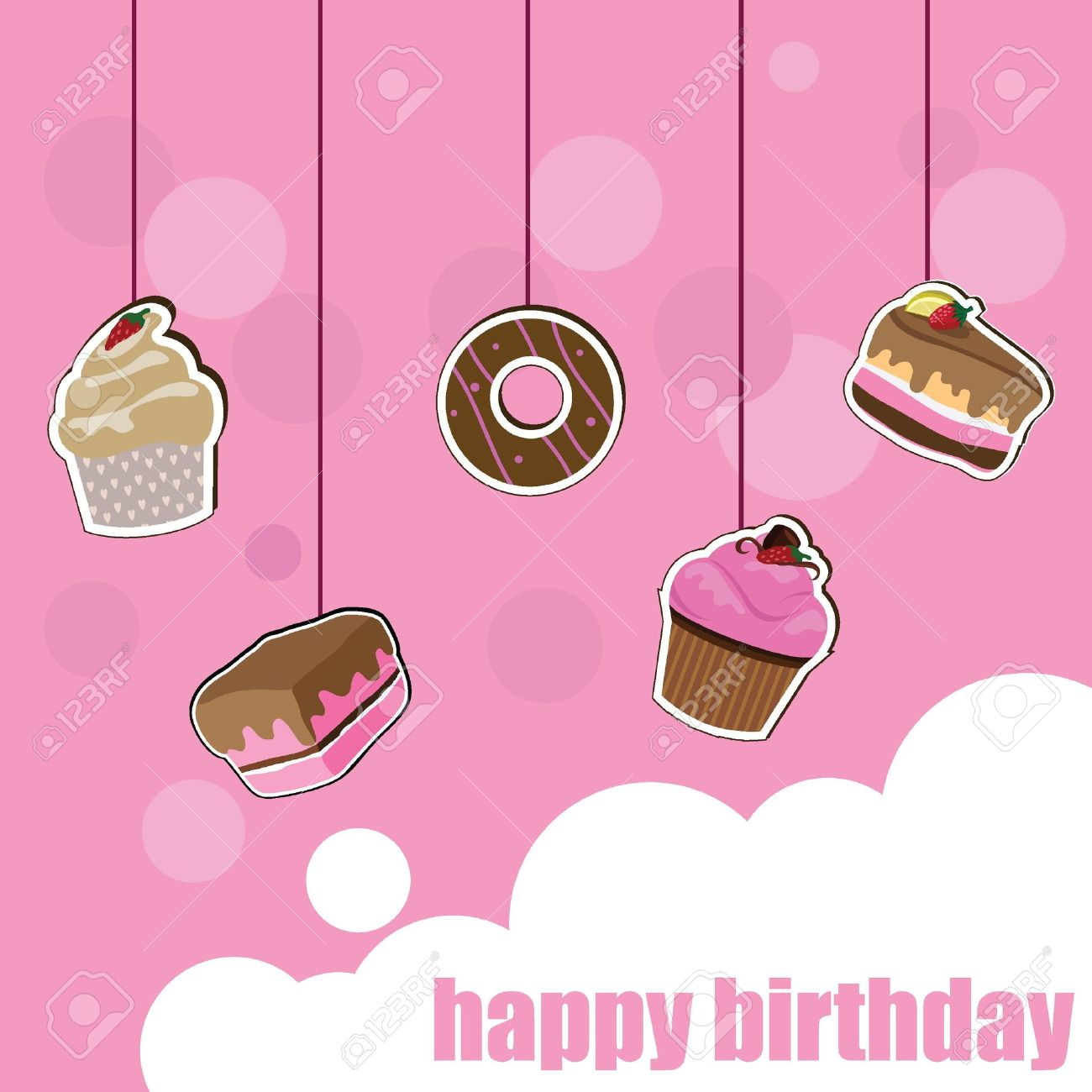 cup cake birthday card for birthday, kids, celebration and, Birthday card