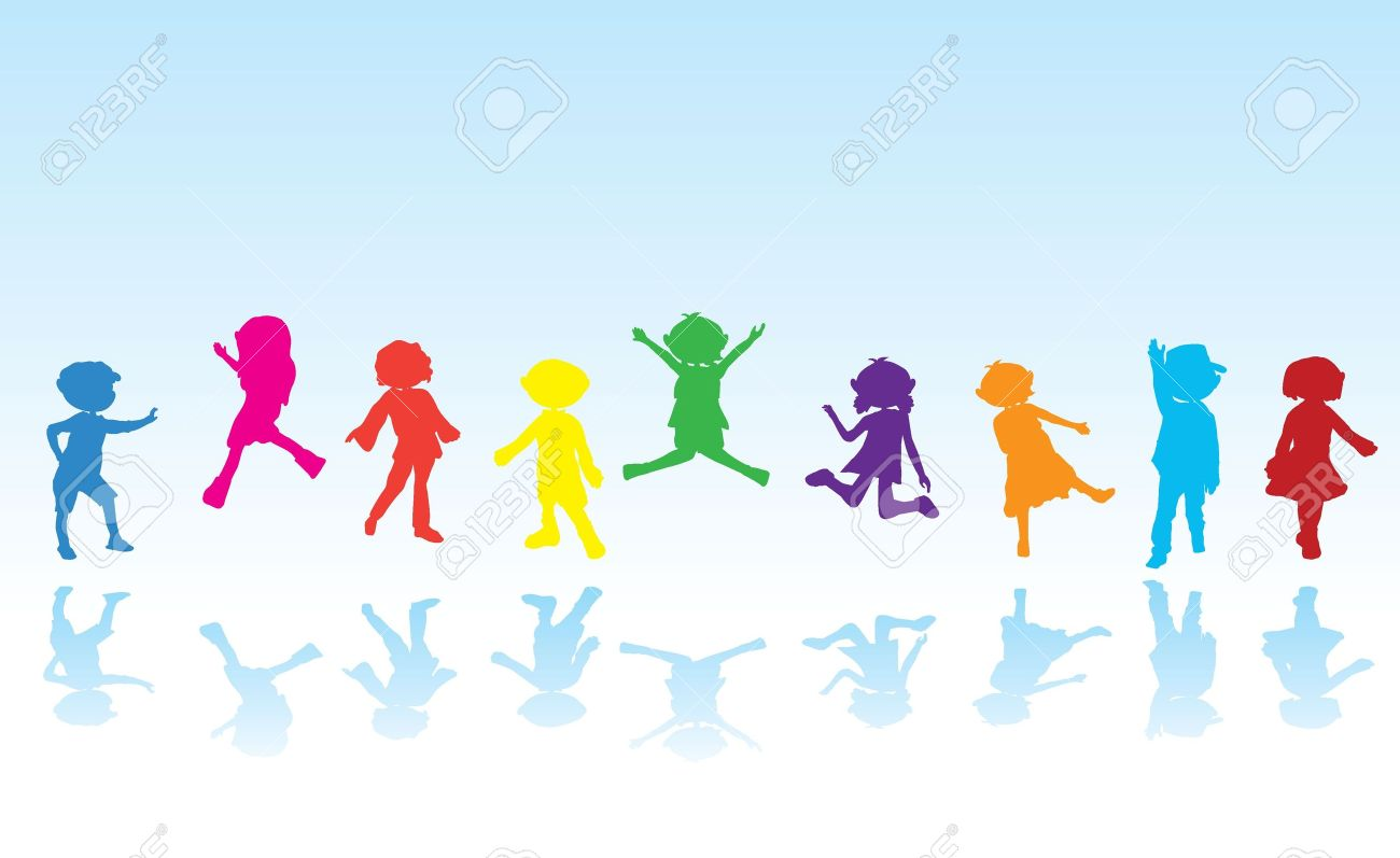 cartoon silhouettes children for children activity, fun and play Stock Vector - 14205640