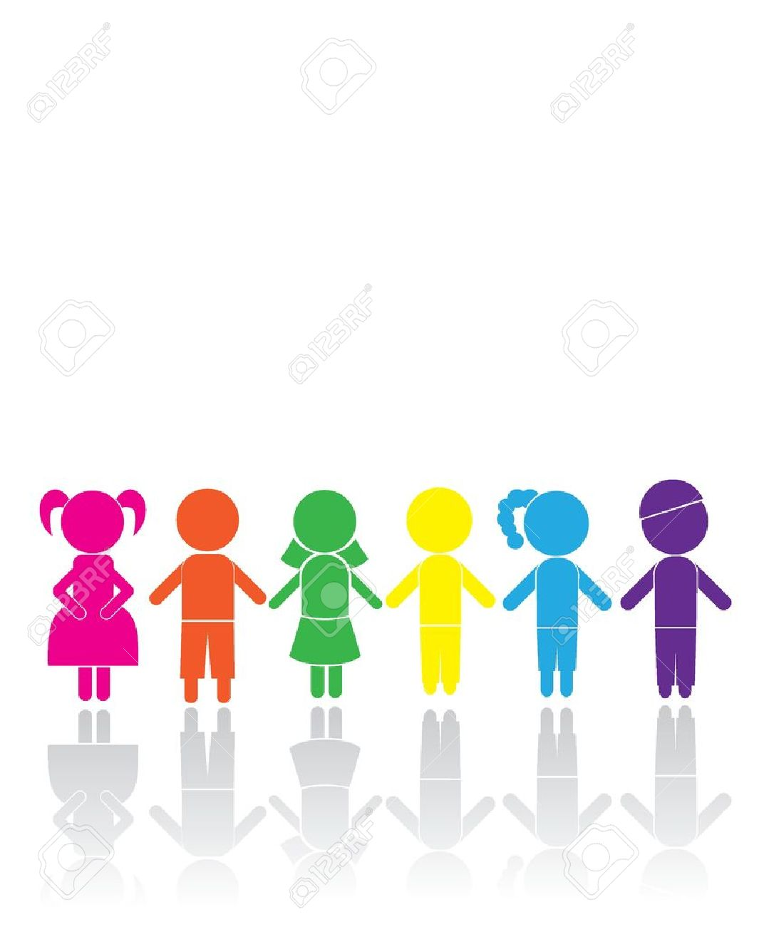 boy girl sticks for children, birthday, icons and others Stock Vector - 14349162