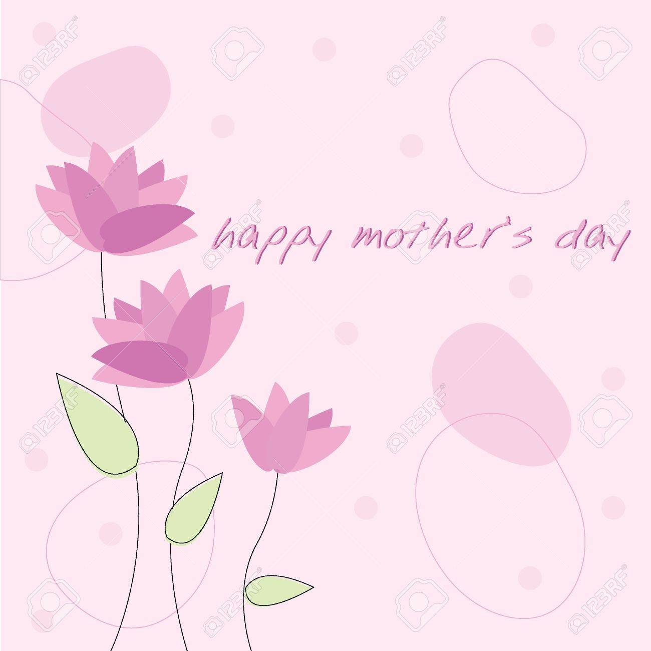 mother's day card for invitation, background, banners and others Stock Vector - 14503190
