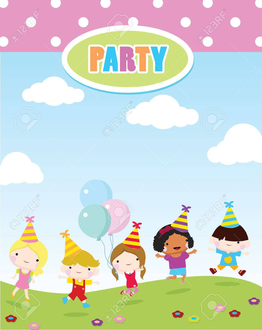 Children party invitations birthday party and celebration royalty children party invitations birthday party and celebration stock vector 50908256 stopboris Image collections