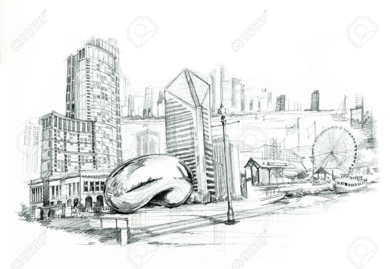 Chicago city illustartion - 29654018