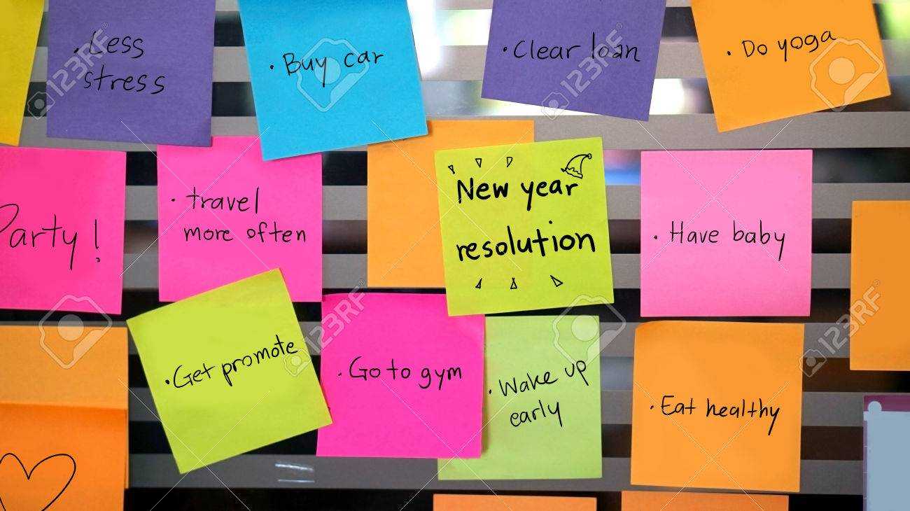 new year resolutions concept - 33238071