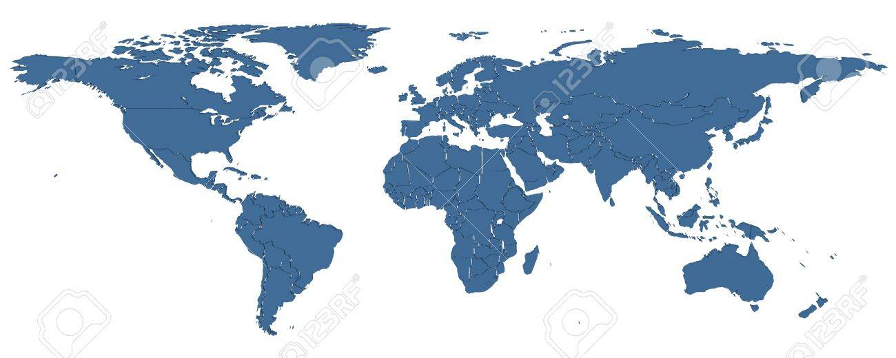 3d map of the world with country borders stock photo picture and 3d map of the world with country borders stock photo 48062628 gumiabroncs Image collections